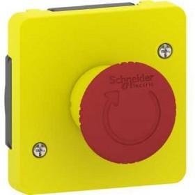 SCHNEIDER Arrêt d'urgence 1/4 tour - composable IP55 - IK08 - jaune Mureva Styl MUR35053