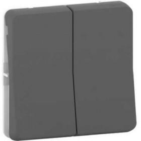SCHNEIDER Double bouton poussoir - composable - IP55 - IK07 - gris Mureva Styl MUR35326