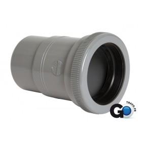 NICOLL Manchon de dilatation MF pour canalisation horizontale - MYH - PVC gris - diamètre 140 NICOLL MYH