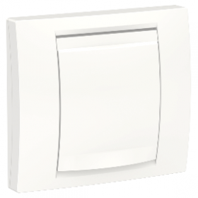 SCHNEIDER 1 poste BLANC IP44 Unica plaque de finition Blanc NU044218 NU044218