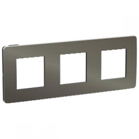 SCHNEIDER 3 Postes Black aluminium liseré Anthracite Unica Studio Métal NU280653 NU280653