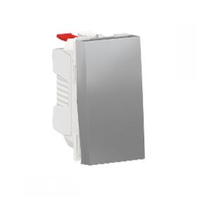 SCHNEIDER Interrupteur va-et-vient 10A Unica Alu Connexion Automatique 1 module NU310330 NU310330