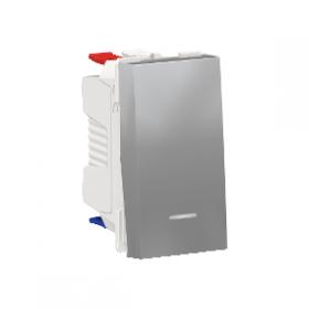 SCHNEIDER Interrupteur va-et-vient lumineux témoin 10A Unica Alu Automatique NU310330S NU310330S