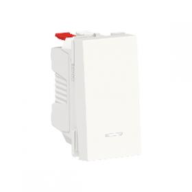 SCHNEIDER Poussoir lumineux 10A Unica Blanc 1 module Connexion Automatique NU310618N NU310618N
