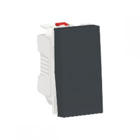 SCHNEIDER Poussoir NO 10A Unica Anthracite 1 Module Connexion Automatique NU310654 NU310654