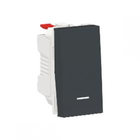SCHNEIDER Poussoir lumineux 10A Unica Anthracite 1 module Connexion Automatique NU310654N NU310654N