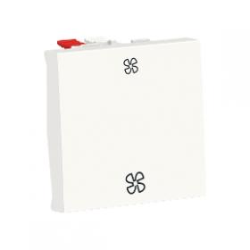 SCHNEIDER Commande VMC Unica Blanc Antimicrobien 2 vitesses 10 A Automatique NU320320VMC NU320320VMC