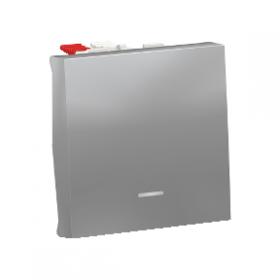 SCHNEIDER Interrupteur va-et-vient lumineux témoin 10A Unica Alu Automatique NU320330S NU320330S