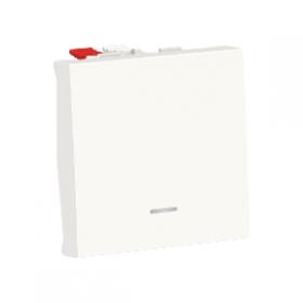 SCHNEIDER Poussoir lumineux ( localisation ) 10A Unica Blanc antimicrobien Auto NU320620N NU320620N