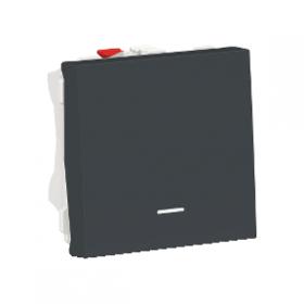 SCHNEIDER Poussoir lumineux ( localisation ) 10A Unica Anthracite Automatique NU320654N NU320654N