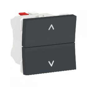 SCHNEIDER Commande Poussoir de volet-roulant Unica Anthracite 2 Touches Auto NU320754 NU320754