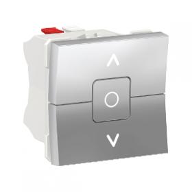 SCHNEIDER Interrupteur volet roulant 3 touches 6A Unica Alu Automatique NU320830 NU320830