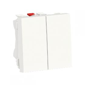 SCHNEIDER Double interrupteur va-et-vient 10A Unica Blanc Automatique NU321318F NU321318F
