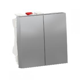 SCHNEIDER Double interrupteur va-et-vient 10A Unica Alu Automatique NU321330 NU321330