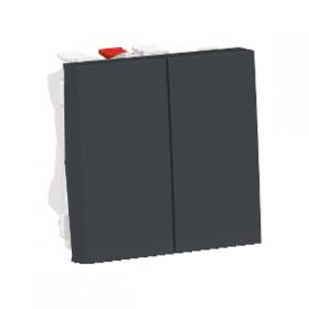 SCHNEIDER Interrupteur double va-et-vient 10A Unica Anthracite Auto NU321354 NU321354