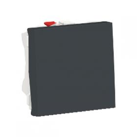 SCHNEIDER Poussoir à bouton NO/NF 10A Unica Anthracite Automatique NU323654 NU323654