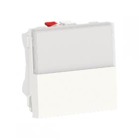 SCHNEIDER Poussoir NO/NF porte-etiquette 10 A Unica Blanc Automatique NU324620 NU324620