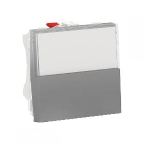 SCHNEIDER Poussoir NO/NF porte-etiquette 10 A Unica Alu Automatique NU324630 NU324630
