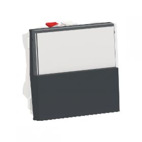 SCHNEIDER Poussoir NO/NF porte-étiquette 10 A Unica Anthracite Automatique NU324654 NU324654