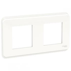 SCHNEIDER 2 Postes blanc Unica Pro plaque de finition NU400418 NU400418