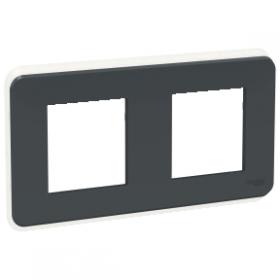 SCHNEIDER 2 Postes Anthracite Unica Pro plaque de finition NU400454 NU400454