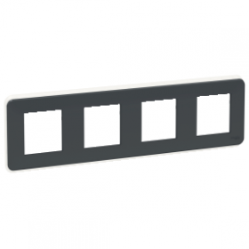 SCHNEIDER 4 Postes Anthracite Unica Pro plaque de finition NU400854 NU400854