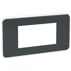 SCHNEIDER 4 Modules Anthracite Unica Pro plaque de finition NU411454 NU411454