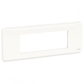 SCHNEIDER 6 Modules Blanc Unica Pro plaque de finition NU411618 NU411618