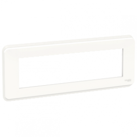 SCHNEIDER 8 Modules Blanc Unica Pro plaque de finition NU411818 NU411818