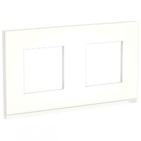 SCHNEIDER 2 postes Translucide liseré Blanc Unica Pure plaque de finition NU600489 NU600489
