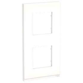 SCHNEIDER 2 Postes Translucide liseré Blanc Unica Pure plaque Vertical NU6004V89 NU6004V89