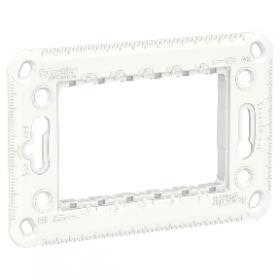 SCHNEIDER Support 3 modules Unica plastique blanc NU7103P NU7103P