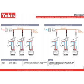 Yokis INTERFACE BOUTON POUSSOIR DOUBLE Réf: R12M Code: 5454073 R12M