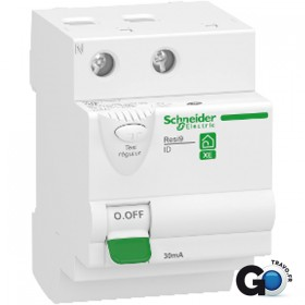 SCHNEIDER Interrupteur différentiel - 2P - 63A - 30mA - Type AC - 3modules - EMBROCHABLE R9ERD263