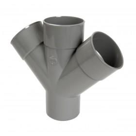 NICOLL Culotte MF double parallèle 45° - RT14 - PVC gris - diamètre 100 mm NICOLL RT14