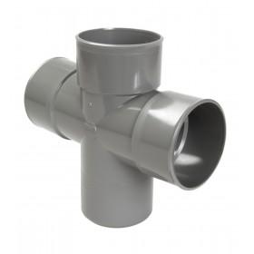 NICOLL Culotte MF double parallèle 87°30 - RT18 - PVC gris - diamètre 100 mm NICOLL RT18