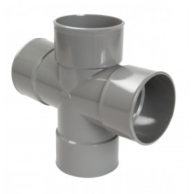 NICOLL Culotte double parallèle Femelle femelle 87°30 PVC gris - diamètre 100 mm NICOLL RT188