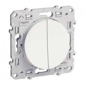 SCHNEIDER Double va-et-vient Blanc ODACE blanc S520214 S520214