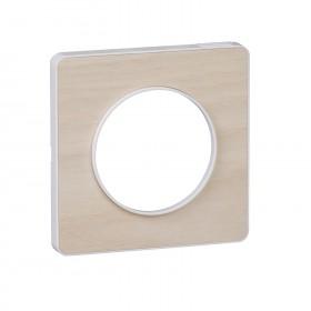 SCHNEIDER Odace Touch, plaque Bois nordique avec liseré Blanc 1 poste S520802M