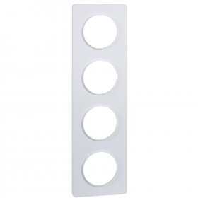 SCHNEIDER Odace Touch, plaque Blanc 4 postes horiz. ou vert. entraxe 71mm S520808