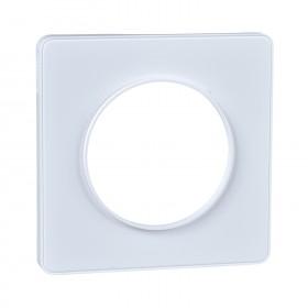 SCHNEIDER Odace You Transparent plaque de finition support Blanc 1 poste S520902W