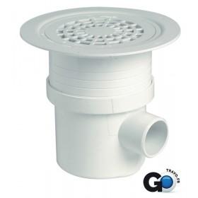 NICOLL Siphon pour sol plastique + grille - SITAR - PVC blanc - diamètre 50/63/50 mm - H. 125/ SITAR