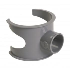 NICOLL Selle de branchement MF 90° PVC pour tube d'évacuation gris - diamètre 100/32 mm NICOLL SL103