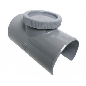 NICOLL Selle de branchement à 90° - SLV109 - avec bouchon de visite - diamètre 100/90 mm NICOLL SLV109