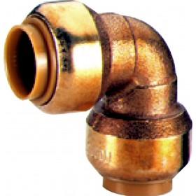 COMAP Coude 90° T090 instantané tectite femelle-femelle D28 pour tube cuivre PER et PB T09028