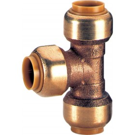 COMAP Té égal T130 instantané tectite D10 pour tubes cuivre, PER ou PB réf T13010 T13010