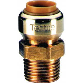 COMAP Manchon T243G instantané tectite mâle-femelle D12-12x17 pour tube cuivre PER et T243G1238