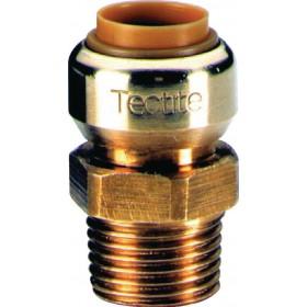 COMAP Manchon T243G instantané tectite mâle-femelle D16-12x17 pour tube cuivre PER et T243G1638