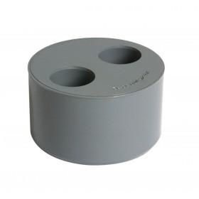 NICOLL Tampon de réduction double MF PVC gris - diamètre 100/32/32 mm NICOLL T33