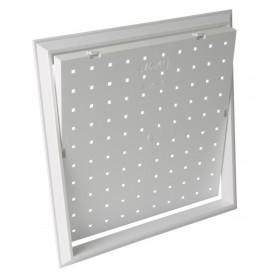 NICOLL Trappe de visite rectangulaire 4 carreaux pour baignoire - TV2520 - PVC blanc TV2520